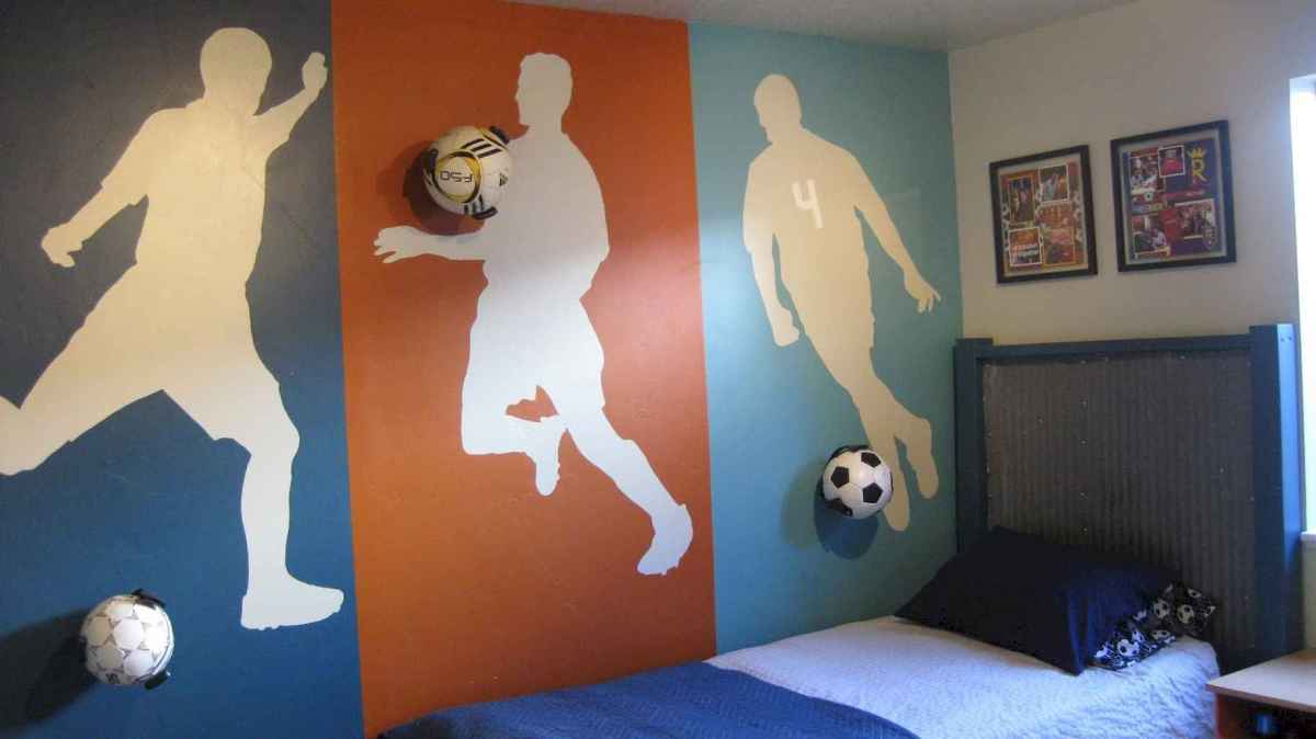 Cool sport bedroom ideas for boys (17)