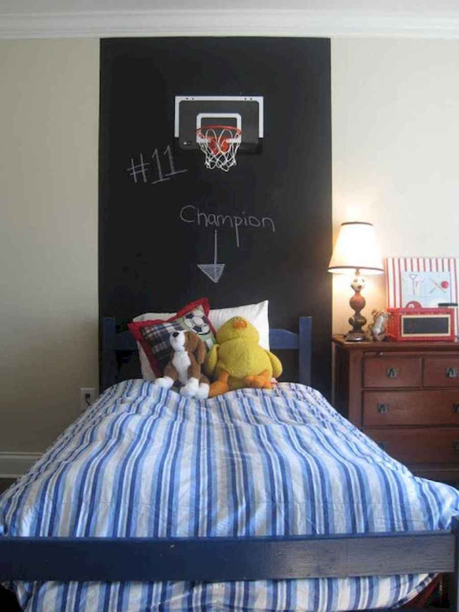 Cool sport bedroom ideas for boys (22)