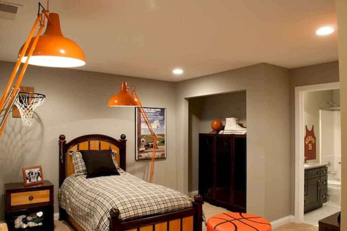 Cool sport bedroom ideas for boys (46)