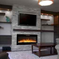 Unique tv wall living room ideas (16)