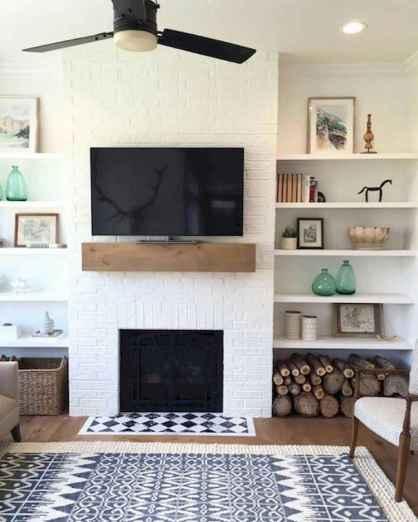 Unique tv wall living room ideas (43)