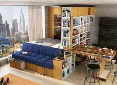 100 Awesome Apartment Studio Storage Ideas Organizing (74)