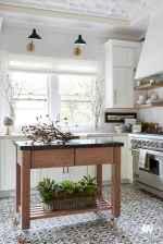 70 Tile Floor Farmhouse Kitchen Decor Ideas (3)