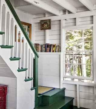 80 Modern Farmhouse Staircase Decor Ideas (12)