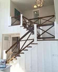 80 Modern Farmhouse Staircase Decor Ideas (31)