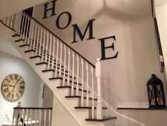 80 Modern Farmhouse Staircase Decor Ideas (42)