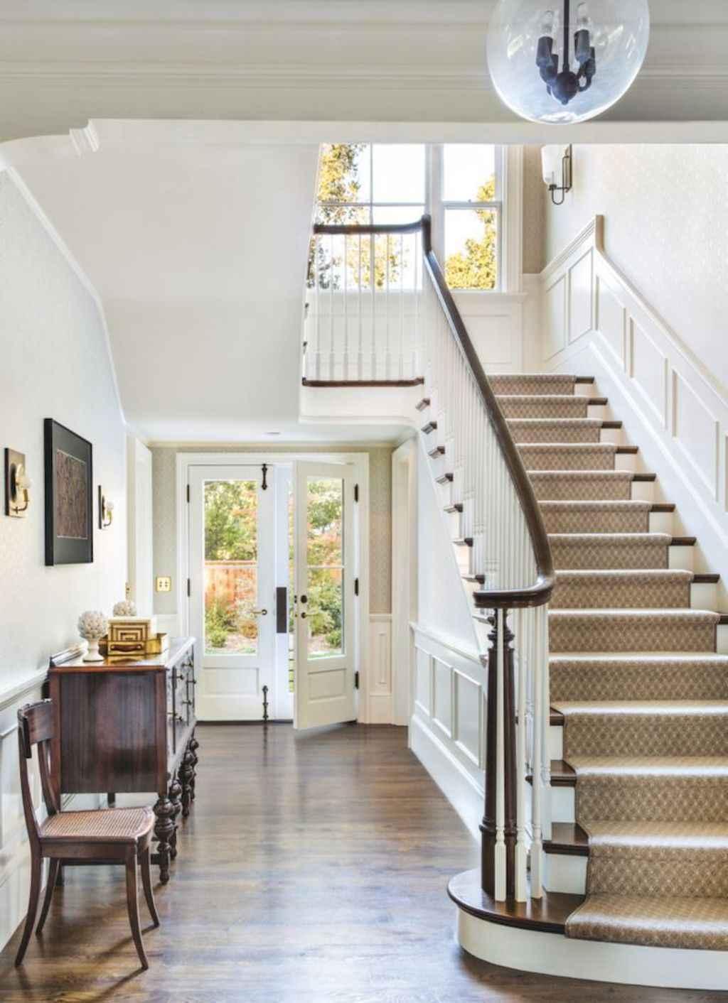 80 Ideas For Contemporary Living Room Designs: 80 Modern Farmhouse Staircase Decor Ideas (5