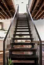 80 Modern Farmhouse Staircase Decor Ideas (70)
