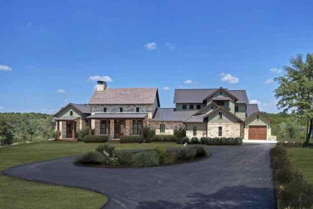 90 Modern American Farmhouse Exterior Landscaping Design (94)