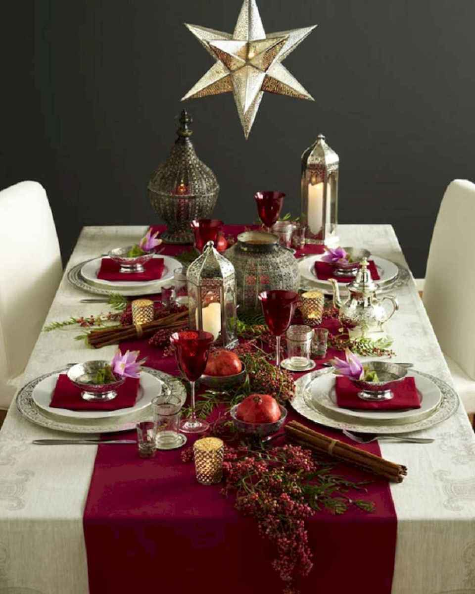 40 Awesome Christmas Dinner Table Decorations Ideas (18)