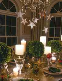 40 Awesome Christmas Dinner Table Decorations Ideas (28)