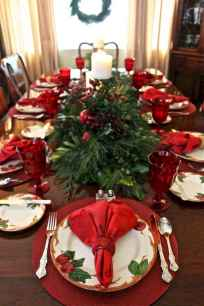 40 Awesome Christmas Dinner Table Decorations Ideas (5)