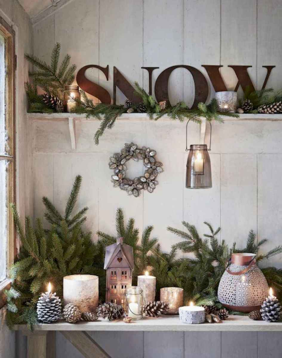 40 First Apartment Ideas Christmas Decorations Shabby Chic (18)