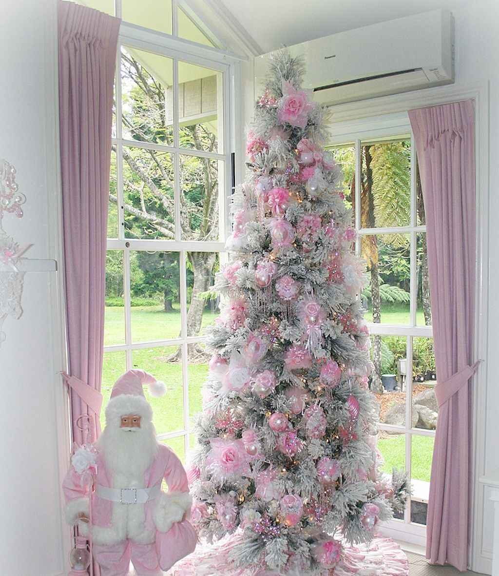 40 First Apartment Ideas Christmas Decorations Shabby Chic (19)