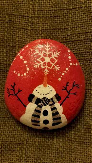 50 DIY Christmas Rock Painting Ideas (27)