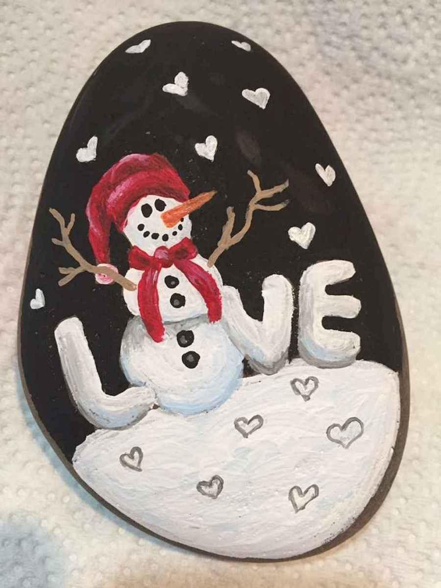 Christmas Rock Painting Designs.50 Diy Christmas Rock Painting Ideas 46 Livingmarch Com