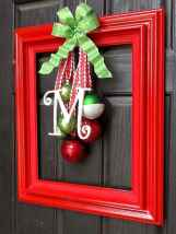 50 Simple DIY Christmas Door Decorations For Home And School (30)