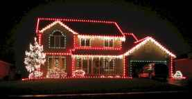 70 Awesome Farmhouse Style Exterior Christmas Lights Decorations (2)