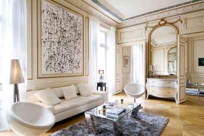 111 Beautiful Parisian Chic Apartment Decor Ideas (105)