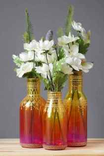 44 DIY Painted Ombre Vases Crafts Ideas On A BUdget (18)