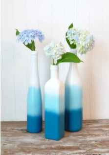 44 DIY Painted Ombre Vases Crafts Ideas On A BUdget (43)