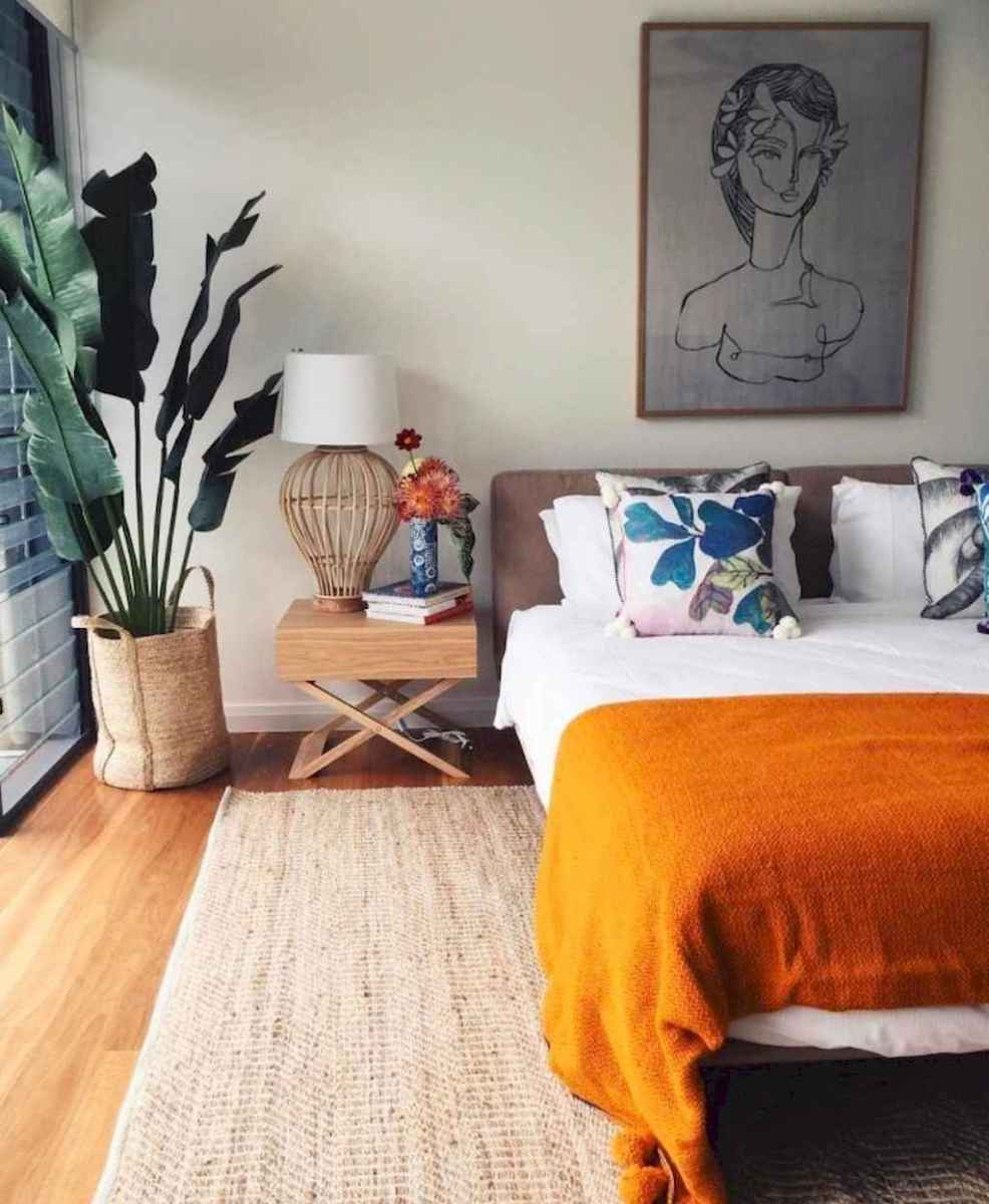 50 Incredible Apartment Bedroom Decor Ideas With Boho Style (10)