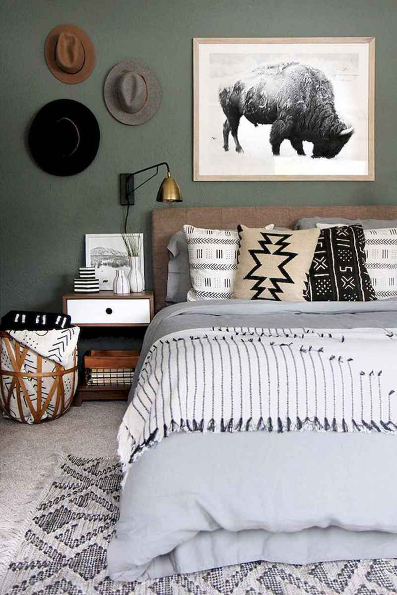 50 Incredible Apartment Bedroom Decor Ideas With Boho Style (21)