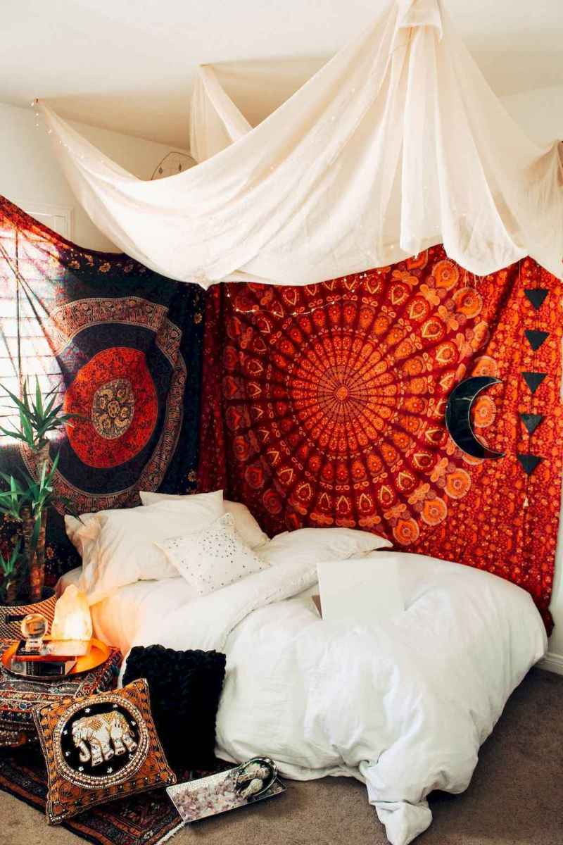 50 Incredible Apartment Bedroom Decor Ideas With Boho Style (9)