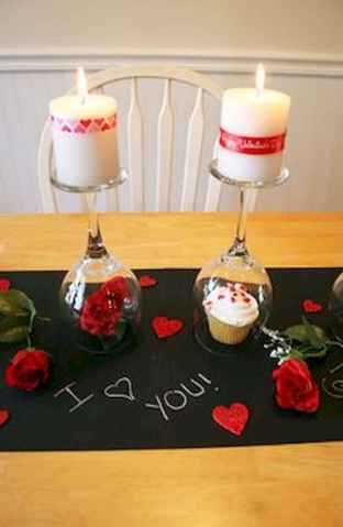 66 Romantic Valentines Table Settings Decor Ideas (49)
