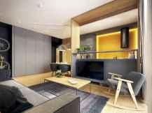 80 Pretty Modern Apartment Living Room Decor Ideas (26)
