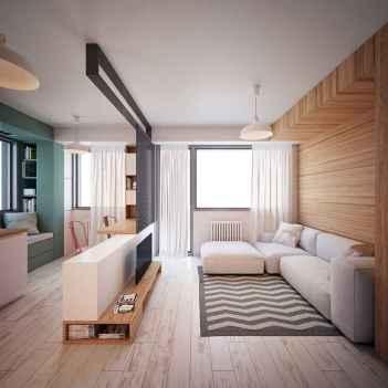 80 Smart Solution Small Apartment Living Room Decor Ideas (32)
