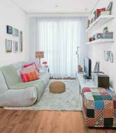 80 Smart Solution Small Apartment Living Room Decor Ideas (73)