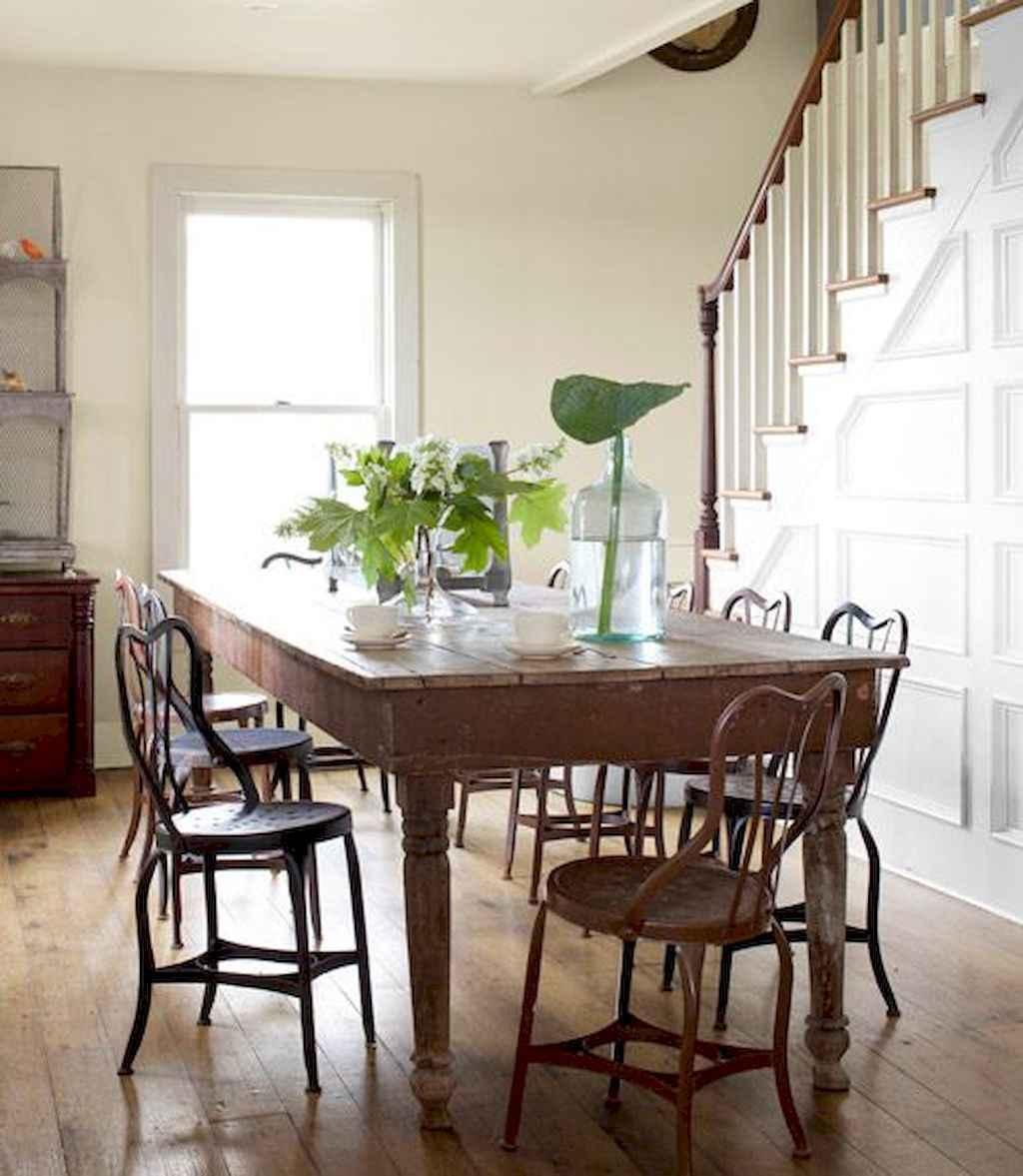 100 Rustic Farmhouse Dining Room Decor Ideas (10)