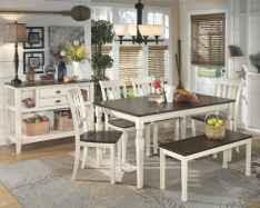 100 Rustic Farmhouse Dining Room Decor Ideas (102)