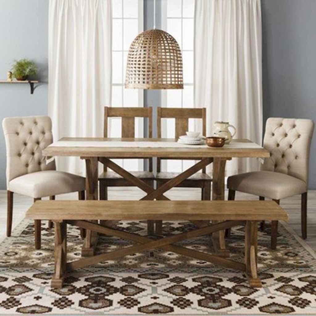 100 Rustic Farmhouse Dining Room Decor Ideas (13)