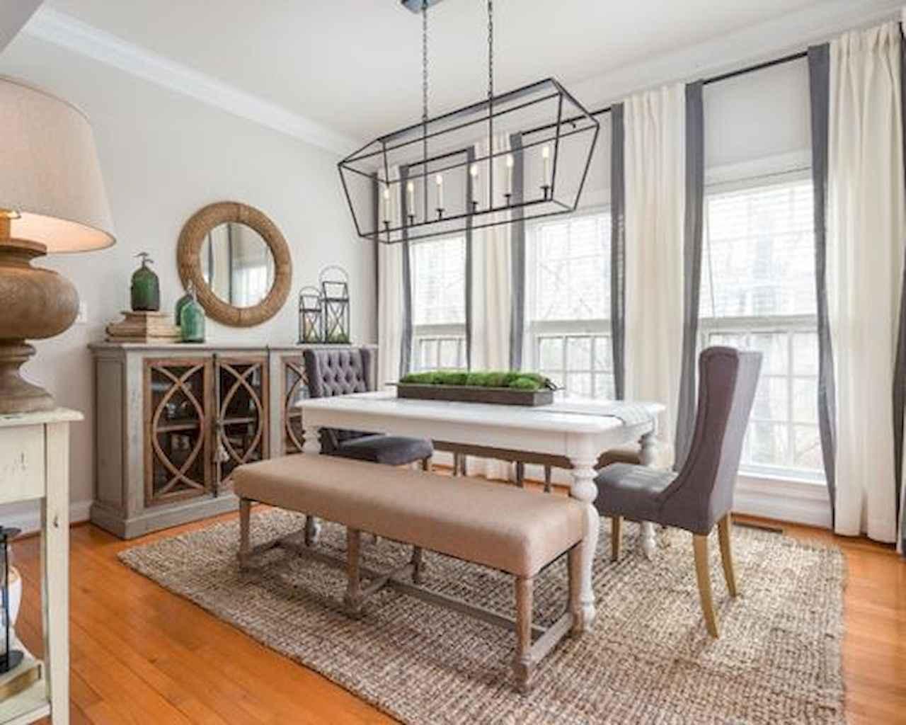 100 Rustic Farmhouse Dining Room Decor Ideas (3)