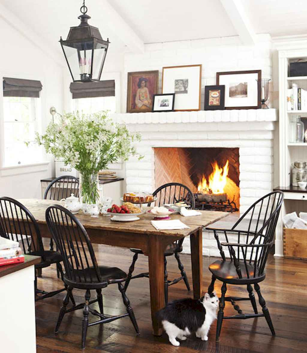 100 Rustic Farmhouse Dining Room Decor Ideas (32)