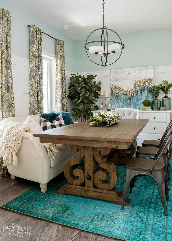 100 Rustic Farmhouse Dining Room Decor Ideas (35)