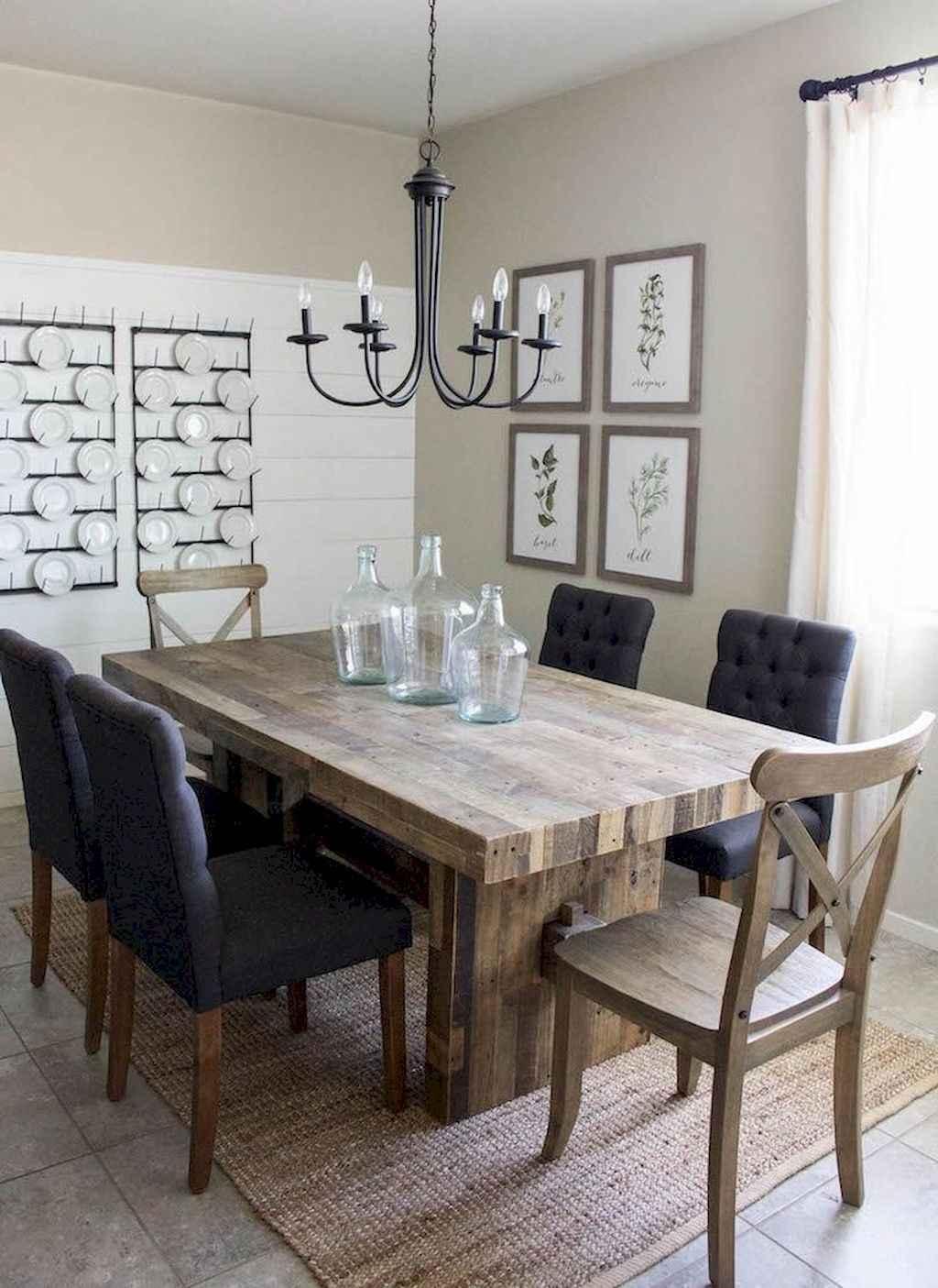 100 Rustic Farmhouse Dining Room Decor Ideas (41)
