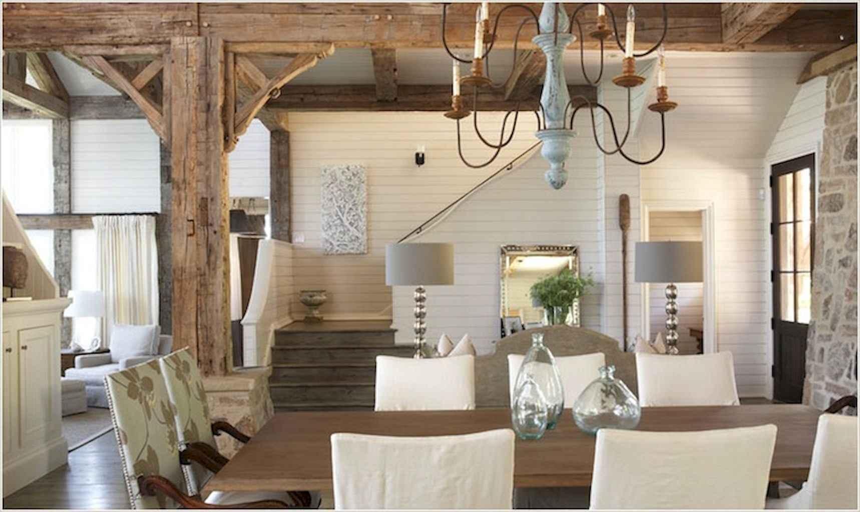 100 Rustic Farmhouse Dining Room Decor Ideas (5)