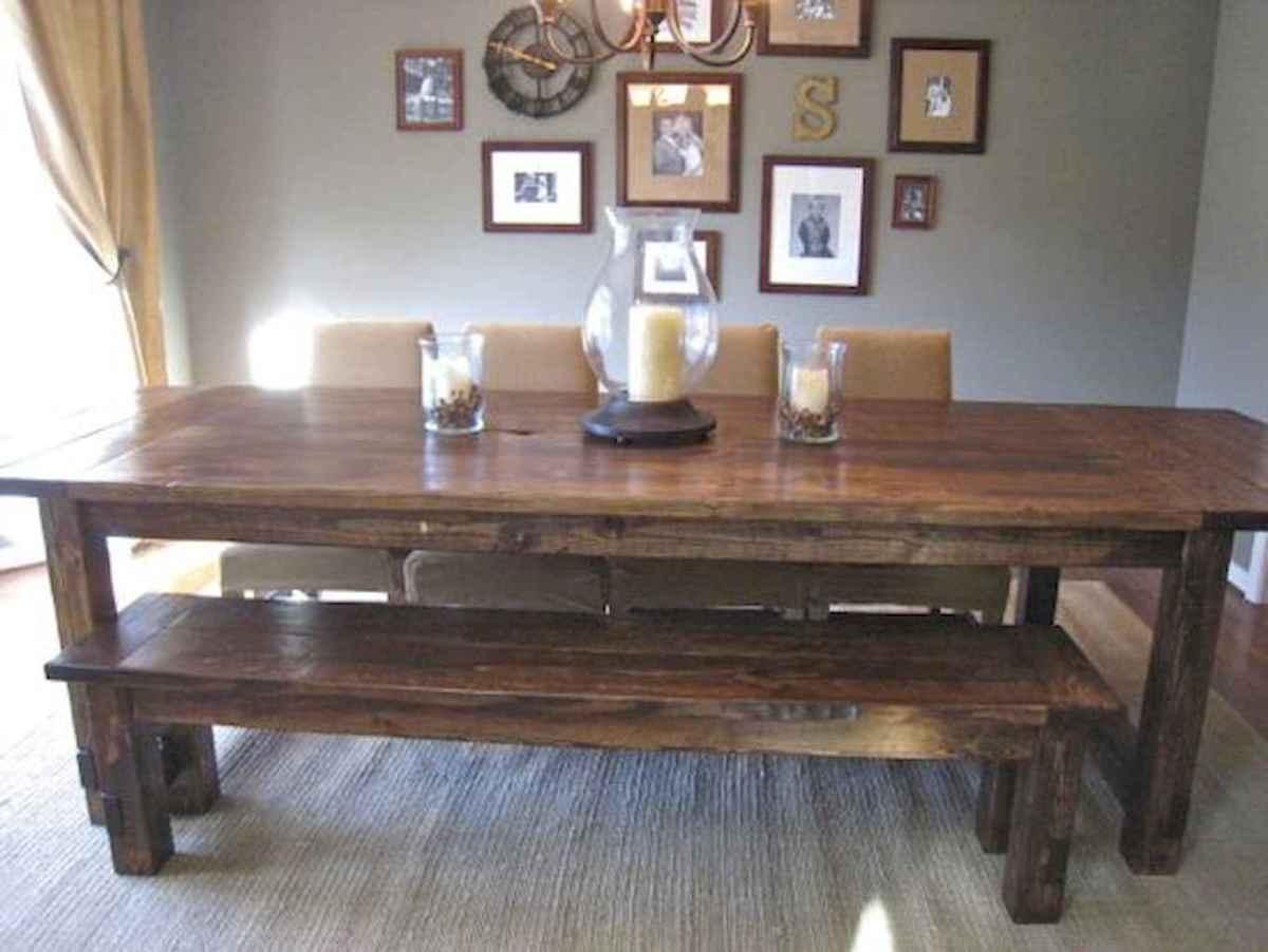 100 Rustic Farmhouse Dining Room Decor Ideas (59)