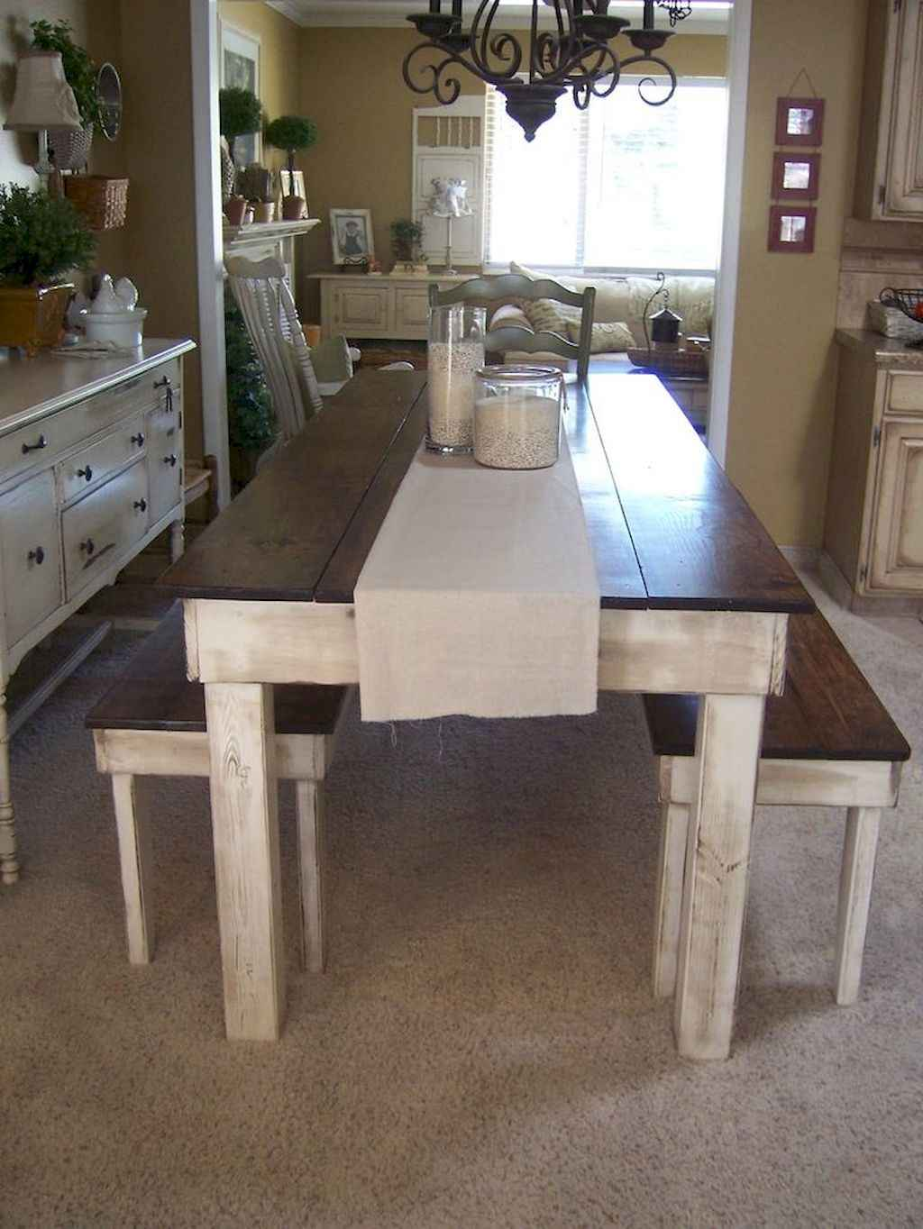 100 Rustic Farmhouse Dining Room Decor Ideas (62)