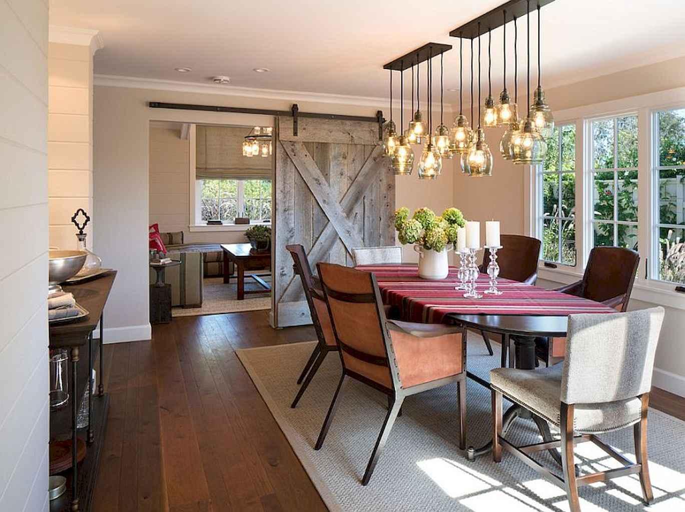 100 Rustic Farmhouse Dining Room Decor Ideas (76)