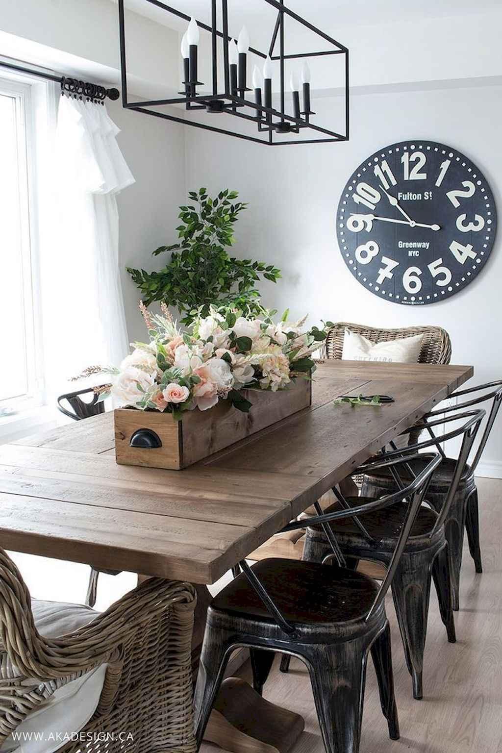 100 Rustic Farmhouse Dining Room Decor Ideas (8)
