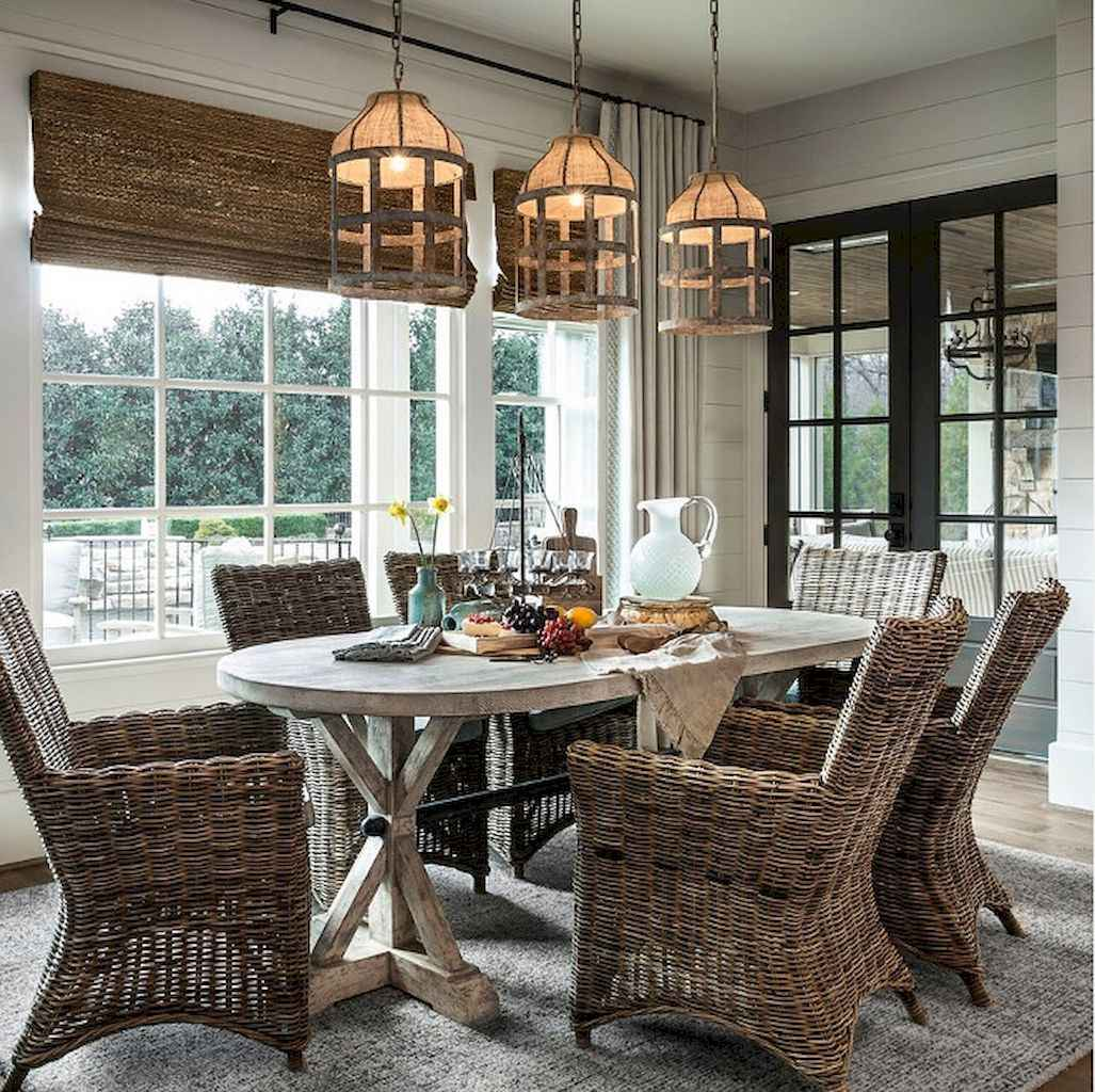 100 Rustic Farmhouse Dining Room Decor Ideas (86)