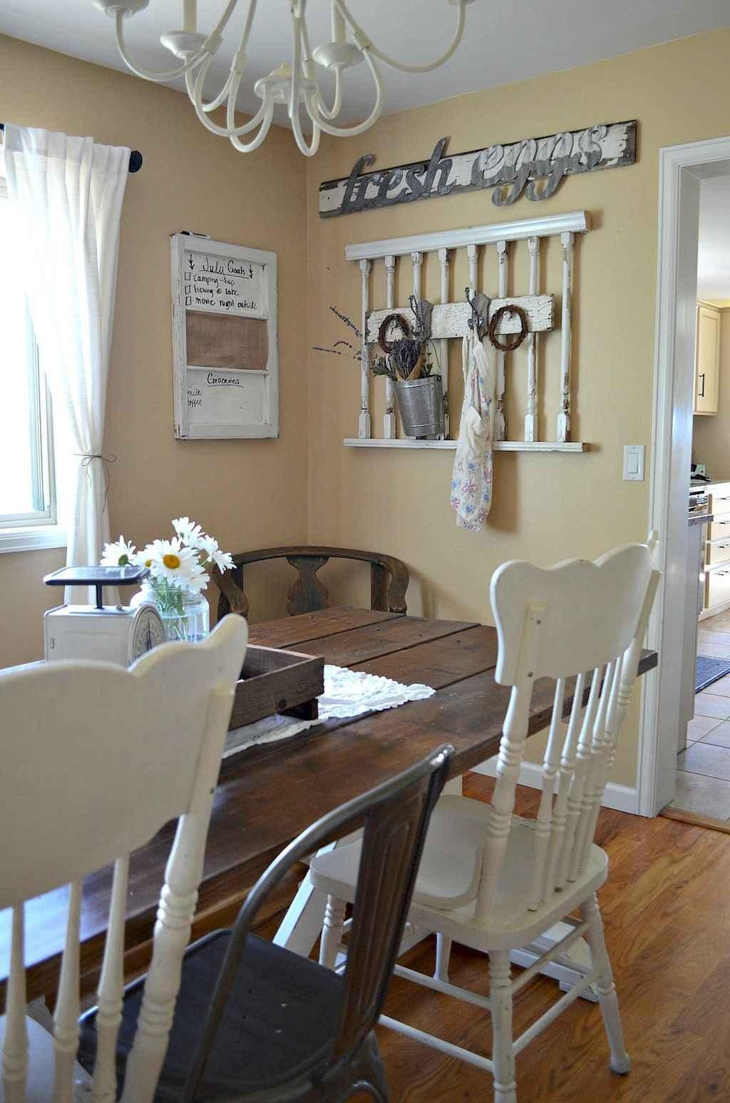 100 Rustic Farmhouse Dining Room Decor Ideas (91)