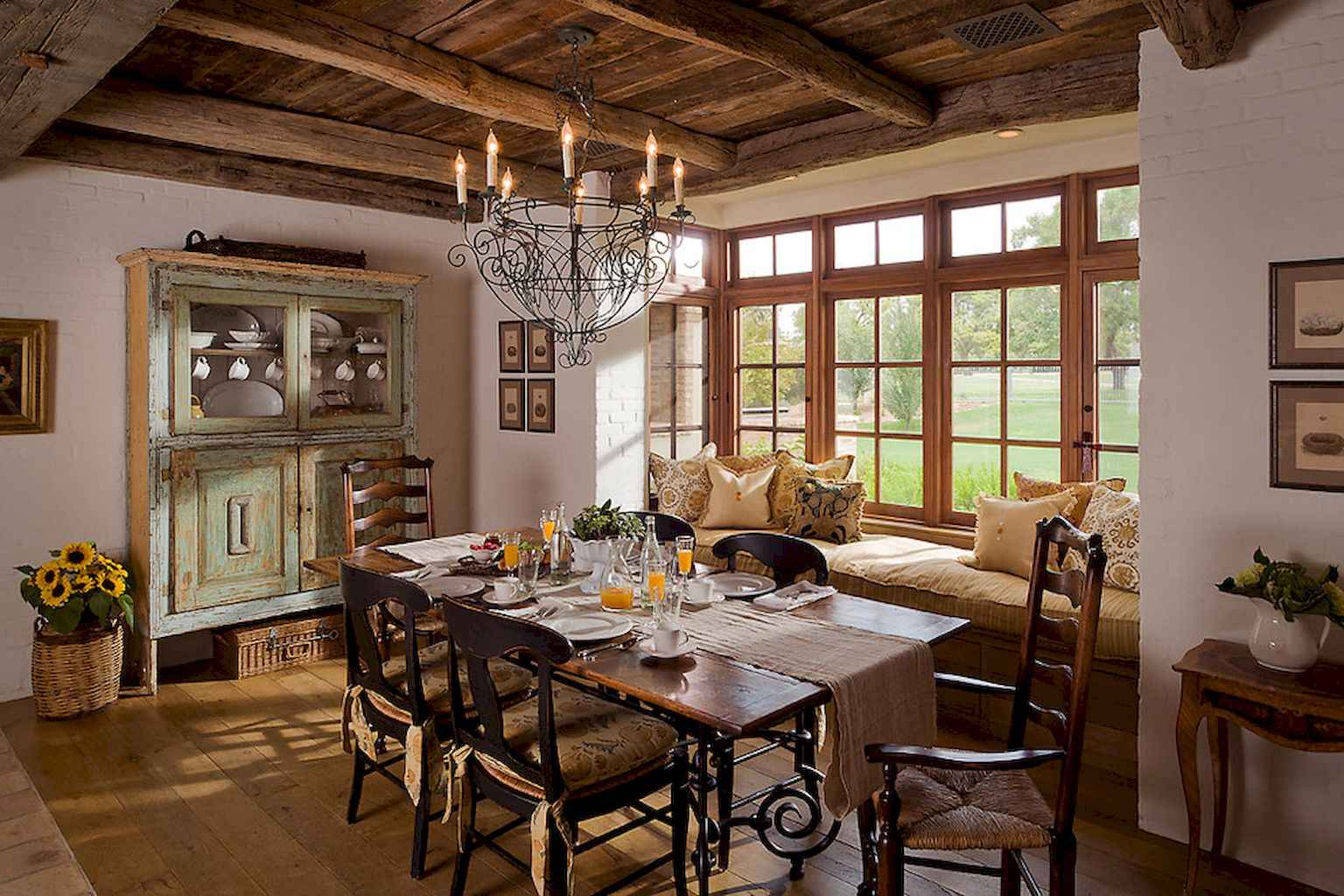 100 Rustic Farmhouse Dining Room Decor Ideas (93)