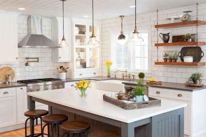 110 Amazing Farmhouse Kitchen Decor Ideas (41)