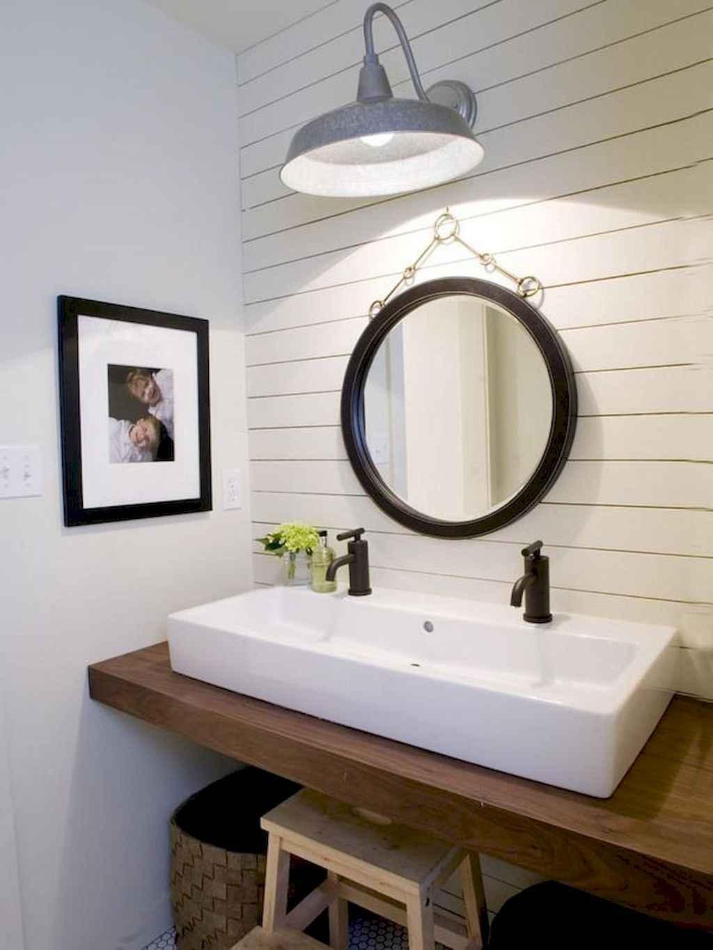 110 Best Farmhouse Bathroom Decor Ideas (1)