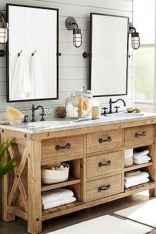 110 Best Farmhouse Bathroom Decor Ideas (106)